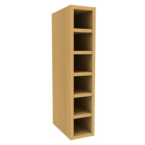 cooke lewis beech effect wine rack wall cabinet w 150mm
