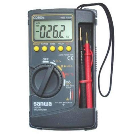 Digital Multimeter Cd800a digital multimeter sanwa cd800a digiware store