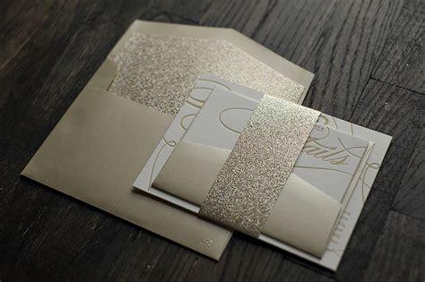 chagne celebration navy and silver glitter wedding invitations wedding