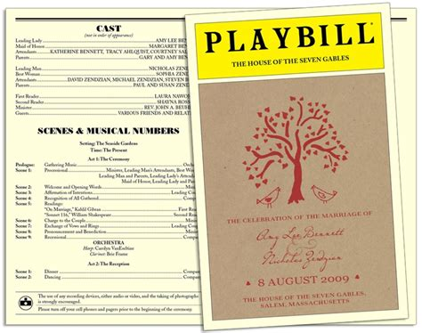 Playbill Wedding Program Like Related Keywords Playbill Wedding Program Like Long Tail Playbill Program