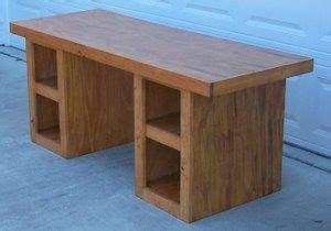 kreg project plans   wood student desk   sections