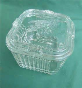 Kitchen Collectables Store vintage federal small square refrigerator dish lid