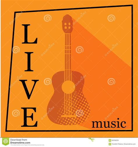 live music vector poster template stock photo image