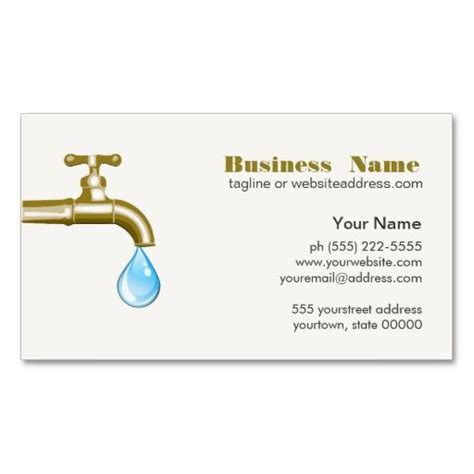 Plumbing Business Card by Plumbing Business Card