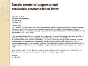 Emotional Support Animal Letter Requirements Emotional Support Animal Letter Crna Cover Letter