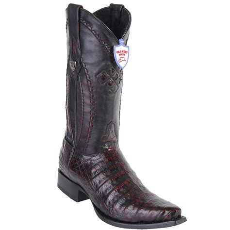west boots s caiman belly western snip toe