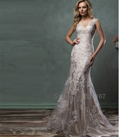 Wedding Dresses V Neck by Aliexpress Buy Gorgeous Wedding Dress V Neck