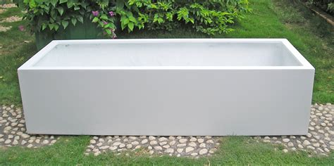 Fiberglass Planters by Lyon 48 Inch Rectangular Fiberglass Resin Planter Many