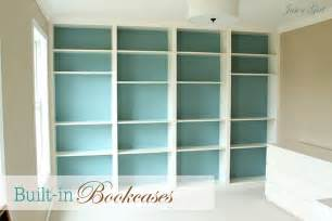 Ideas For Built In Bookshelves Home Ideas Built In Billy Ikea Bookcases Personable