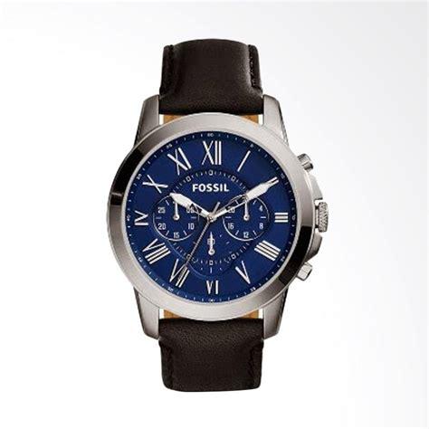 Jam Tangan Fossil L14 Hitam jual fossil grant chronograph tali kulit hitam jam tangan