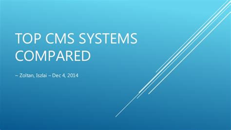 best cms 2014 top cms systems compared