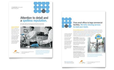 commercial cleaning brochure templates janitorial office cleaning datasheet template design