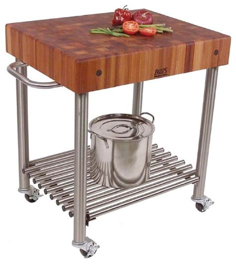 cherry kitchen island cart food service cart w cherry end grain top contemporary