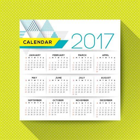 2017 Calendar Annual 2017 Annual Calendar Vector Free