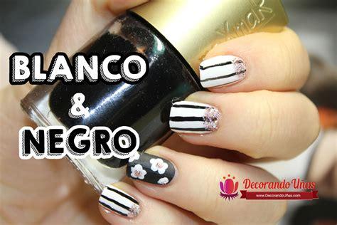 imagenes de uñas blanco y negro u 241 as decoradas con lineas y flores en blanco y negro youtube