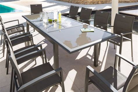 table carrée rallonge 717 catgorie table de jardin du guide et comparateur d achat