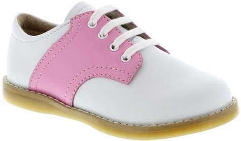 pink and white oxford shoes footmates cheer white pink saddle oxford