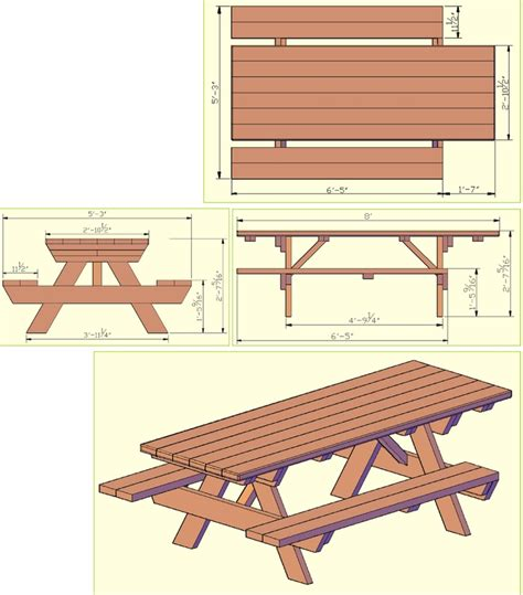 park bench cad block wheelchair accessible picnic table diy outdoor furniture
