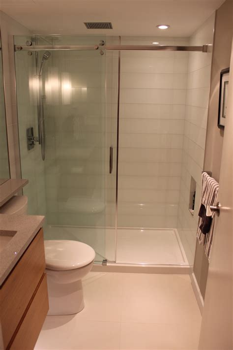 Showers Cubicles In Small Bathroom Endearing Home Small Bathroom Renovating Ideas With Transparent Glass Sliding Door Covering