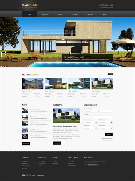 Real Estate Agency Website Template 41662 Website Templates For Real Estate Agents Free