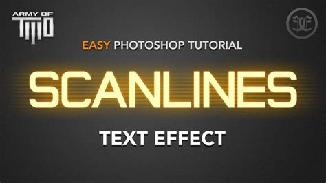photoshop cs3 glow effect tutorial easy photoshop tutorial glowing scanlines text effect