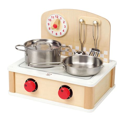 kitchen amazon amazon com hape tabletop cook and grill kid s wooden