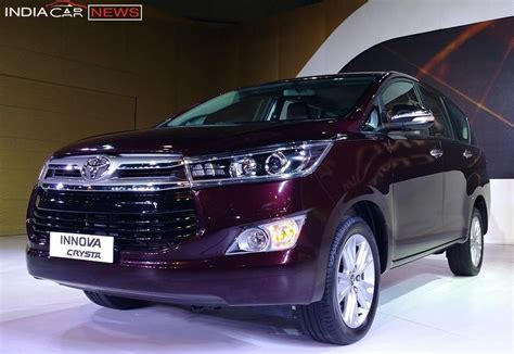 toyota innova price in india top model toyota innova crysta price specifications mileage