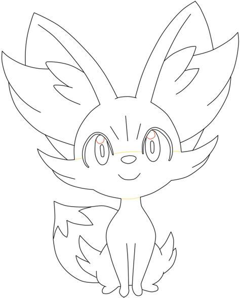 pokemon coloring pages fennekin fennekin line art by twerk jutsu on deviantart