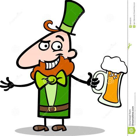 cartoon beer leprechaun with beer cartoon illustration royalty free