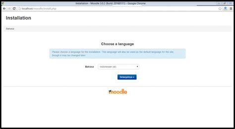 membuat web e learning dengan moodle cara membuat elearning dengan install moodle 3 0 2 bahasa