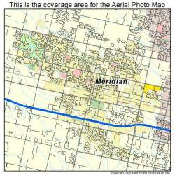 aerial photography map of meridian id idaho