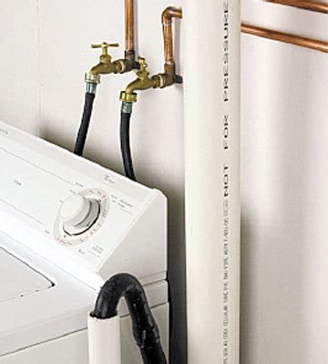 How To Install Plumbing For Washing Machine by Setting Up A Laundry Room Utility Rooms Basements
