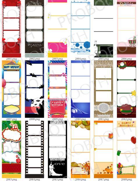 30 2x6 photo strip templates bundle a darkroom booth