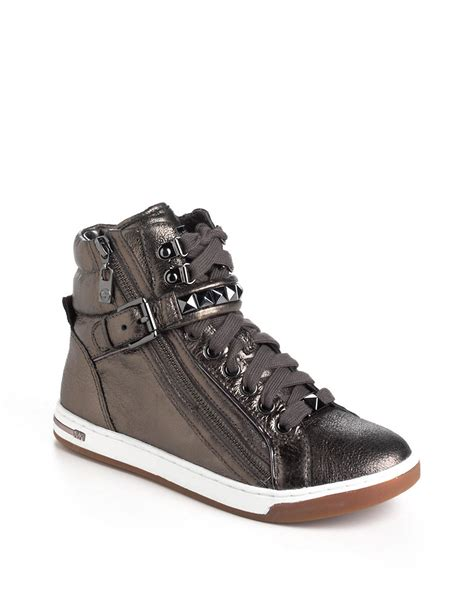 studded high top sneakers michael michael kors glam studded leather high top