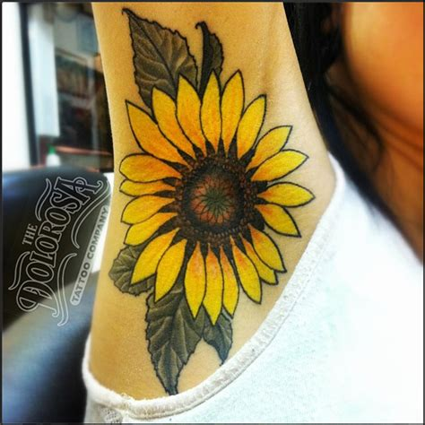 traditional sunflower tattoo traditional sunflower armpit things to
