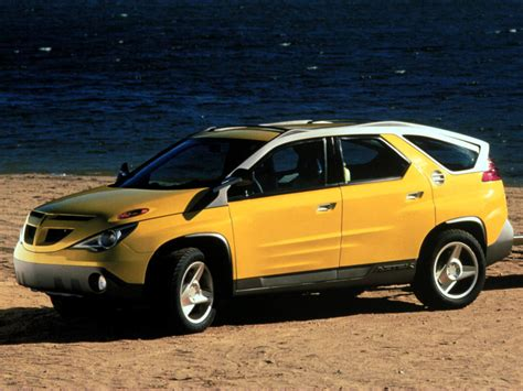 pontiac aztek yellow aztec car autos post