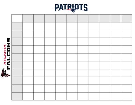 superbowl squares template bowl squares how to win during bowl li