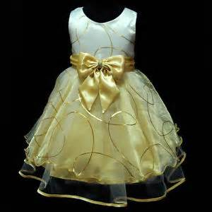 Bridesmaid gold party flower girls dresses size 2 3 4 5 6 7 8 9 ebay
