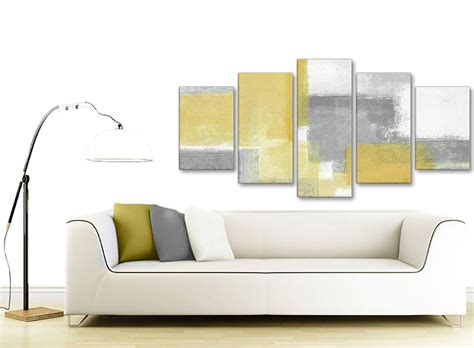 5 In 1 Yelow Size Xl Set Celana Dalam Mc 5 mustard yellow grey abstract living room canvas wall decor 5367 160cm xl set artwork