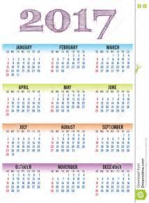 calendario 2017 da stare jpg calend 225 rio 2017 do vetor molde ilustra 231 227 o do vetor