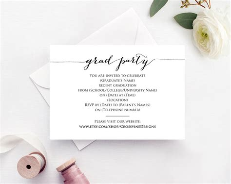 Graduation Party Invitation 183 Wedding Templates And Printables Graduation Inserts Template