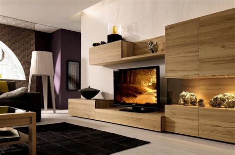 Ikea Muebles Television #2: Light-wood-media-center-with-wall-unit1.jpg