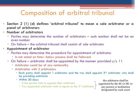 section 11 of arbitration act law of arbitration by niddhi parmar