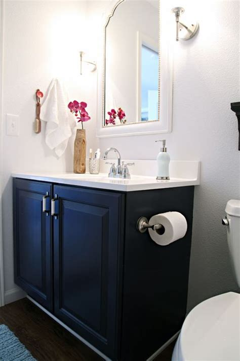navy blue bathroom vanity 1000 ideas about paint bathroom vanities on