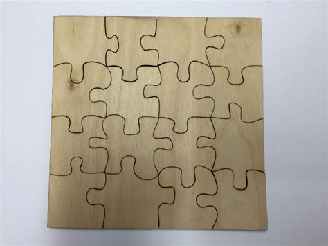 16 Piece Blank Wooden Jigsaw Puzzle Blank   3 sizes to
