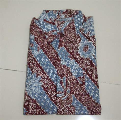 Kemeja Ardan Batik Maroon Pos jual kemeja batik pria maroon biru garis size m cilla closet