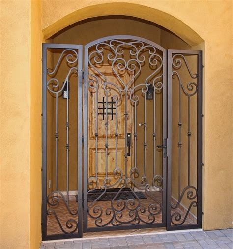 custom scroll iron gate by impression security doors