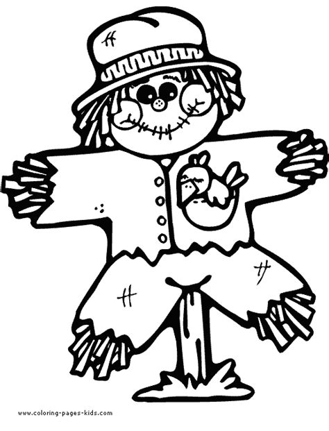 children s thanksgiving coloring pages free scarecrow coloring
