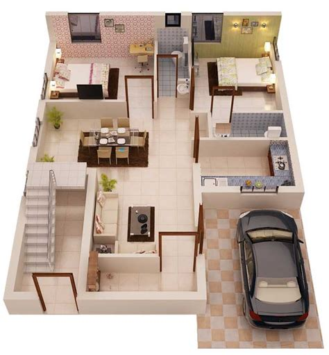 home design 3d 2bhk tulsi vatika by sharma infra venture 2 bhk villas at