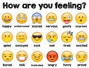 emoji recognition chart emoji feelings chart